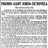 Premi Sant Jordi de novel·la